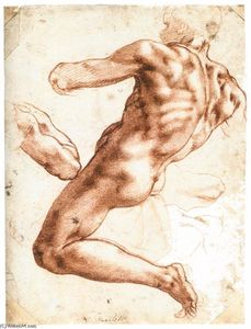 Michelangelo Buonarroti - Assis Male Nude (recto)