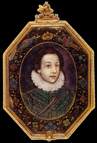 Portrait à of le Young Louis XIII, 1615 de Jean Limosin (1580-1646, France) | Copie Tableau | WahooArt.com