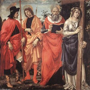 Filippino Lippi - Quatre Saints Retable