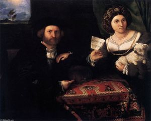 Lorenzo Lotto - portrait d-un marié couples