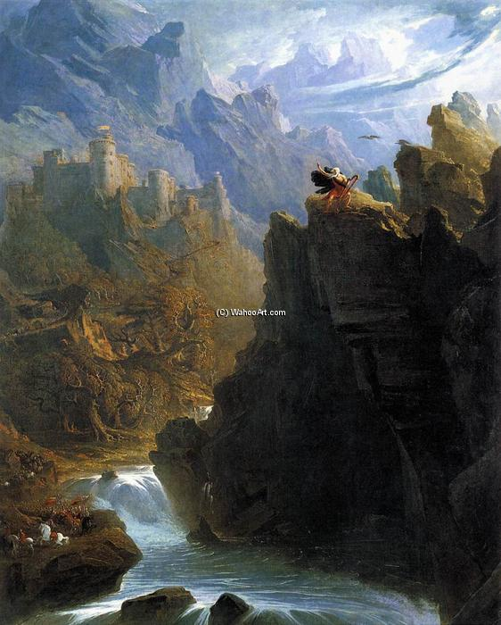 The Bard, 1817 de John Martin (1789-1854, United Kingdom) | Reproductions De Qualité Musée John Martin | WahooArt.com