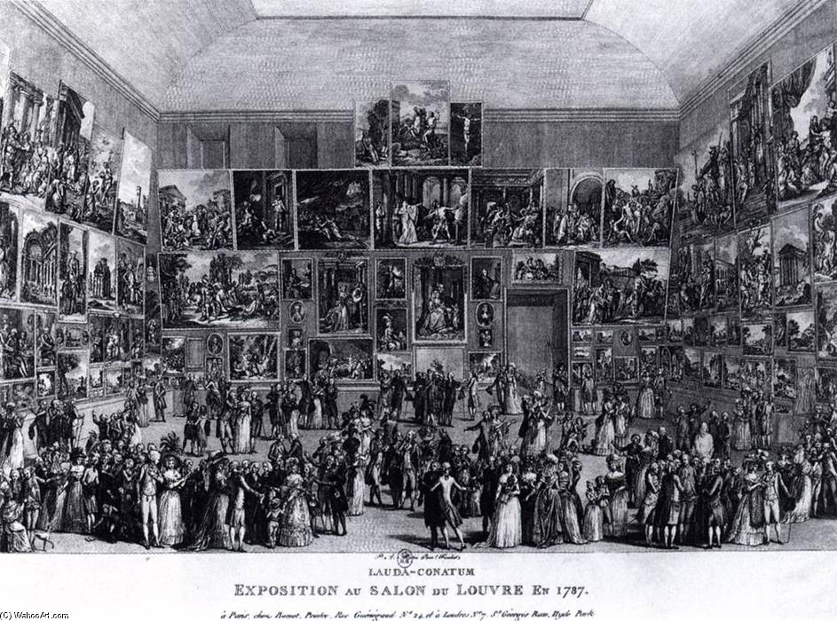 Exposition au salon du louvre en 1787 gravure de pietro for Salon a paris
