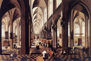 Peeter Neeffs The Younger - Intérieur of Antwerp Cathédrale