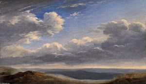 Pierre Henri De Valenciennes - Étudier of Nuages over le Roman Campagna