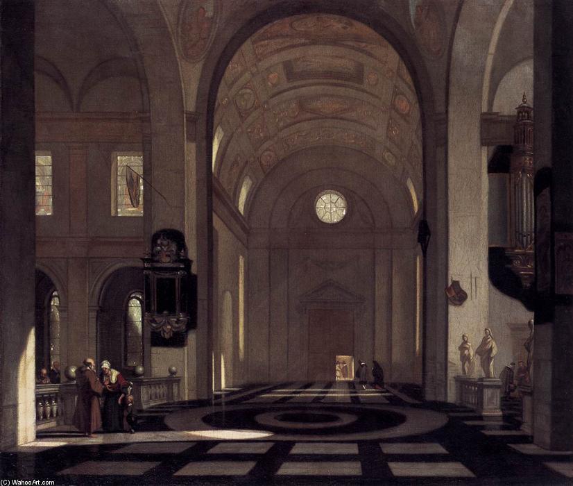 int rieur of une baroque church huile sur toile de. Black Bedroom Furniture Sets. Home Design Ideas