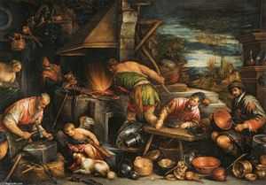 Francesco Bassano The Younger - La Forge de Vulcain