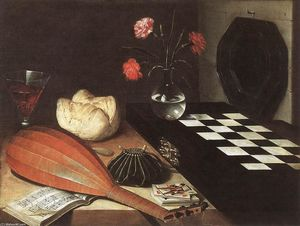 Lubin Baugin - Nature morte aux échiquier (The Five Senses)