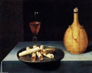 Lubin Baugin - Nature morte avec Wafer Biscuits (Le Dessert de Gaufrettes)