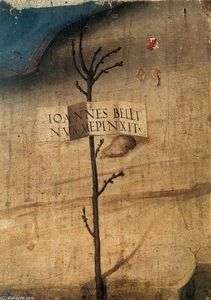 Giovanni Bellini - petit arbre avec inscription ( fragment )
