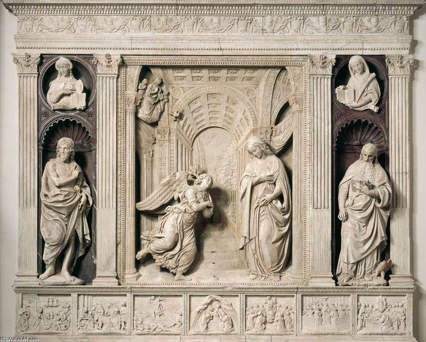 retable de l' annonciation, marbre de Benedetto Da Maiano (1446-1497, Italy)