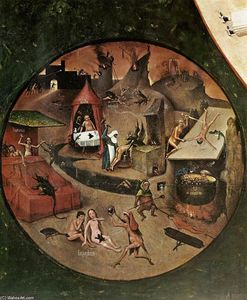 Hieronymus Bosch - The Seven Deadly Sins (détail)