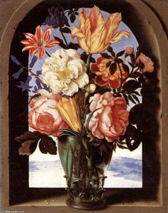 Ambrosius Bosschaert The Elder - Bouquet de fleurs