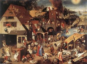 Pieter Bruegel The Younger - Les proverbes flamands