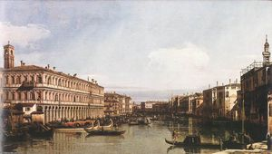 Giovanni Antonio Canal (Canaletto) - Vue of le grand canal