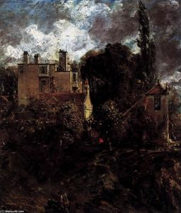 John Constable - Maison de l amiral (The Grove)