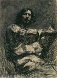 Gustave Courbet - Assis jeune homme