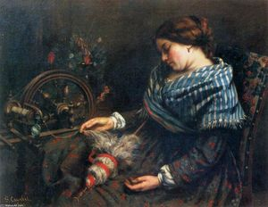 Gustave Courbet - Le Spinner Sleeping