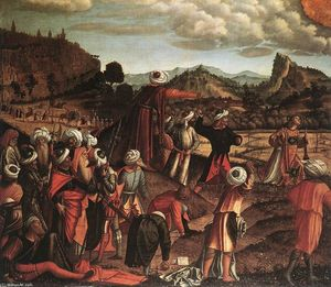 Vittore Carpaccio - la lapidation of saint etienne
