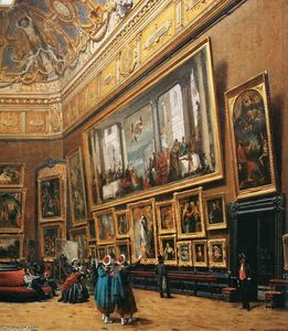 Exposition au salon du louvre en 1787 gravure de pietro for Salon du louvres