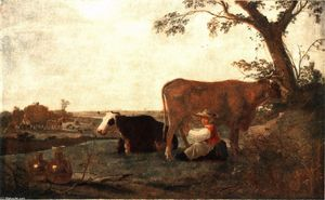 Aelbert Jacobsz Cuyp - The Dairy ménage