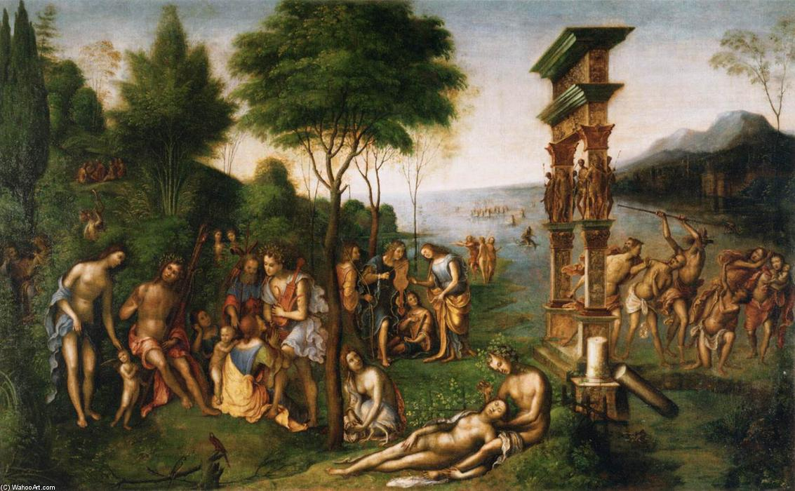 Le Règne de Comus, 1511 de Lorenzo Costa (The Elder) (1460-1535, Italy) | Reproduction Peinture | WahooArt.com
