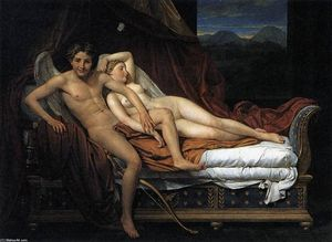 Jacques Louis David - Cupidon et Psyché