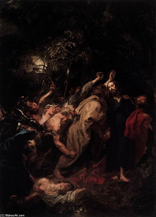 le `capture` du christ, 1618 de Anthony Van Dyck (1599-1641, Belgium) | Reproductions D'art Anthony Van Dyck | WahooArt.com