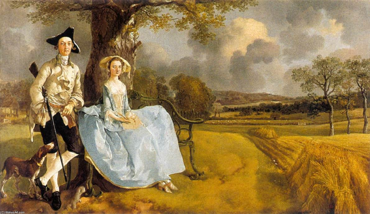 M. et mme andrews, 1748 de Thomas Gainsborough (1727-1788, United Kingdom) | Reproductions D'art Thomas Gainsborough | WahooArt.com