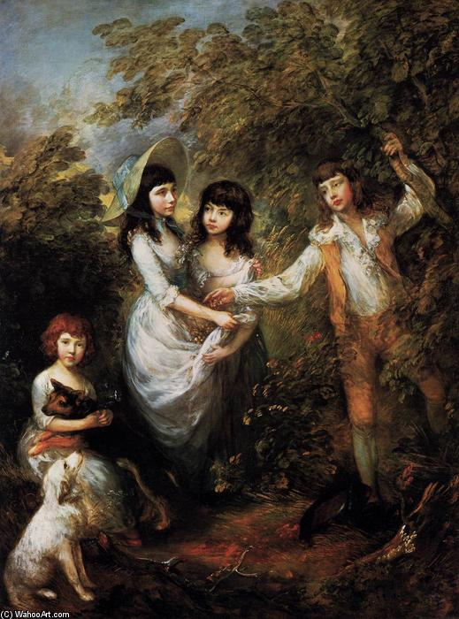Le Marsham enfants, 1787 de Thomas Gainsborough (1727-1788, United Kingdom) | Reproductions D'art Thomas Gainsborough | WahooArt.com