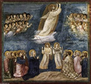 Giotto Di Bondone - Pas . 38 Scènes de la Vie of Jésus christ : 22 . Ascension