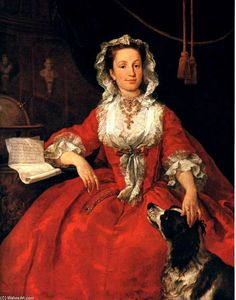 William Hogarth - Portrait de Mary Edwards