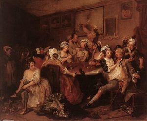 William Hogarth - L Orgie