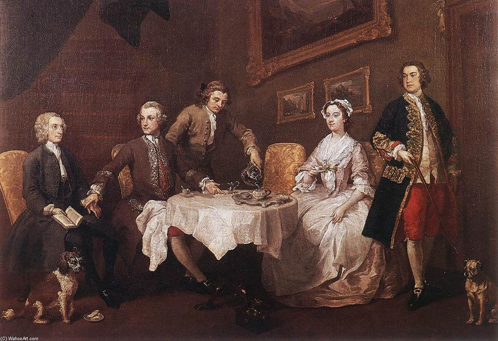 La famille Strode, 1738 de William Hogarth (1697-1764, United Kingdom) | Reproductions De Peintures William Hogarth | WahooArt.com