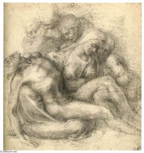 Michelangelo Buonarroti - le lamentation of Jésus christ ( recto )