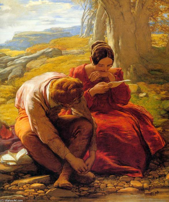 Le Sonnet, 1839 de William Mulready The Younger (1786-1863, Ireland) | Copie Tableau | WahooArt.com