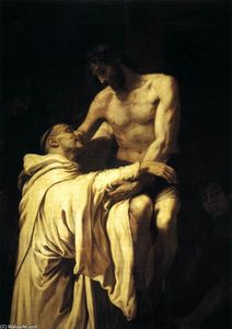 Francisco Ribalta - Christ enlacer St Bernard