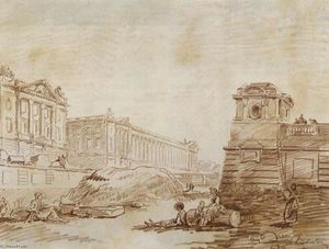Hubert Robert - Ditch à la Place de la Concorde