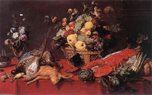 Frans Snyders - nature morte avec une corbeille de fruits