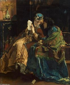 Alfred Stevens - Pleasant Lettre