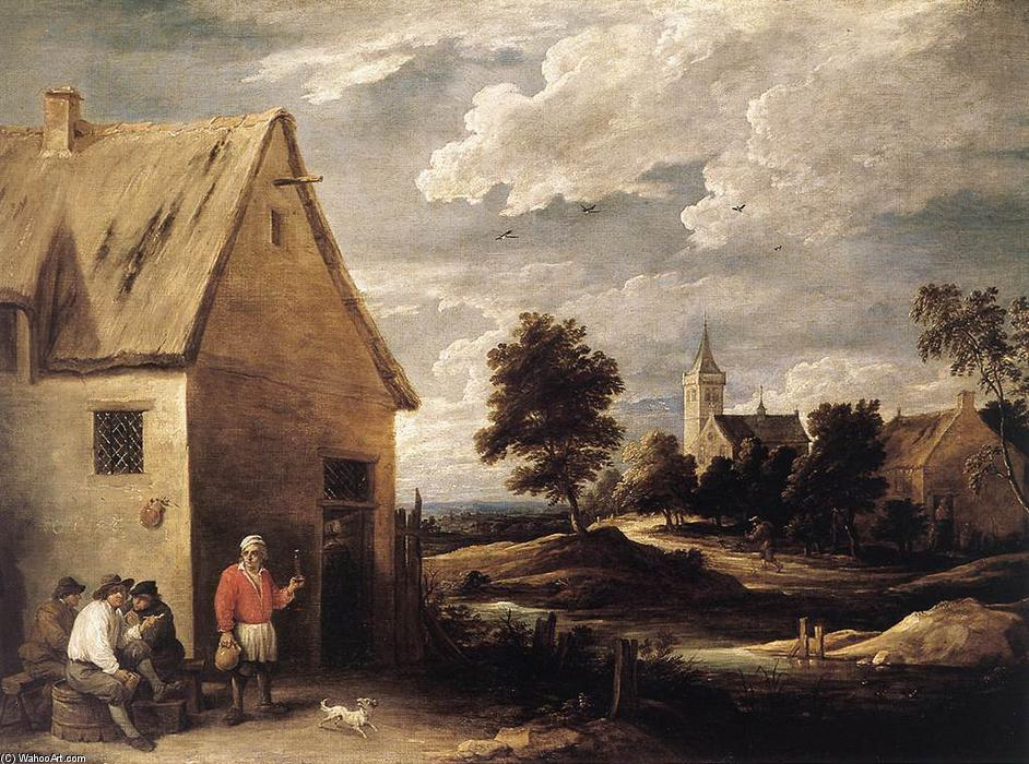 Achat Reproductions D'œuvres D'art | Scène Village de David The Younger Teniers (1610-1690, Belgium) | WahooArt.com