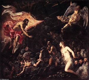 Tintoretto (Jacopo Comin) - La descente aux enfers
