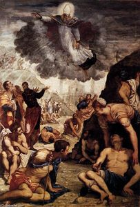 Tintoretto (Jacopo Comin) - le miracle of r Augustine