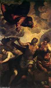 Tintoretto (Jacopo Comin) - le la tentation des r `anthony