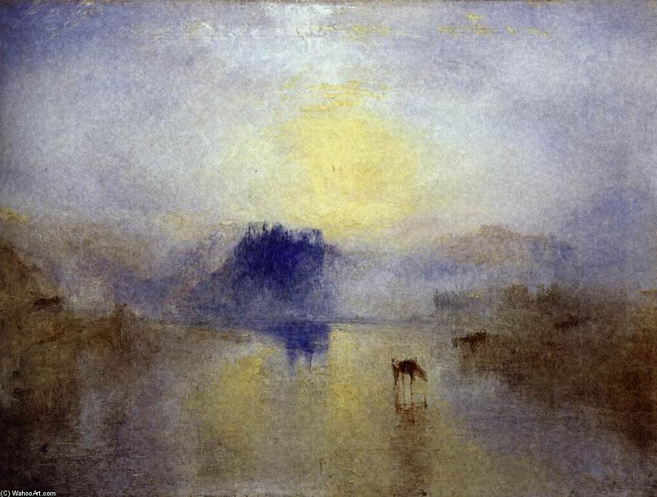 Norham Castle, Sunrise, 1845 de William Turner (1775-1851, United Kingdom) | Reproductions De Qualité Musée William Turner | WahooArt.com