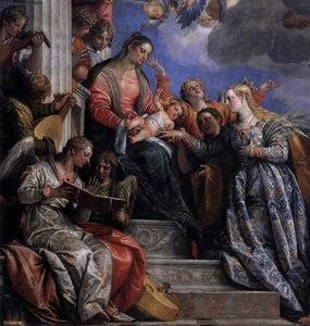 Paolo Veronese - mariage mystique of r Catherine ( détail )