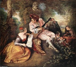 Jean Antoine Watteau - «La gamme d amour (The Love Song)