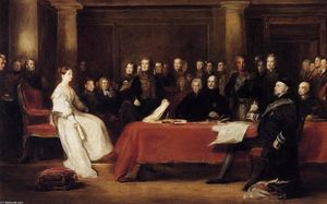 David Wilkie Wynfield - le premier Council of Reine Victoria