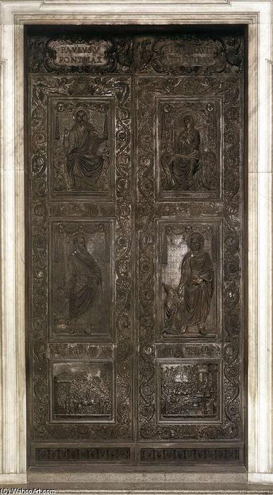 Airain porte airain de filarete 1400 1469 italy - Les beatitudes une secte aux portes du vatican ...
