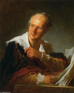 Jean-Honoré Fragonard - Denis Diderot (Fanciful Figure)