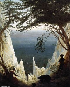 Caspar David Friedrich - Craie Falaises sur rügen - (copie de tableau)